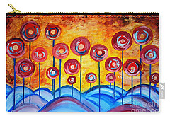 Abstract Red Symphony Carry-all Pouch