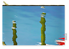 Carry-all Pouch featuring the photograph Abstract Reflection In River by Gary Slawsky