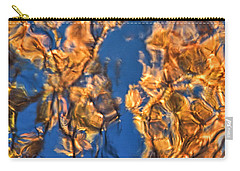 Carry-all Pouch featuring the photograph Abstract Reflections In Autumn by Gary Slawsky