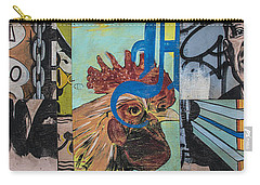 Abstract Rooster Panel Carry-all Pouch by Terry Rowe