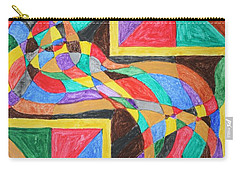 Carry-all Pouch featuring the painting Alien By Windows by Stormm Bradshaw