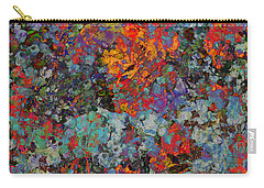 Carry-all Pouch featuring the mixed media Abstract Spring by Ally  White