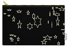Carry-all Pouch featuring the photograph Abstract Stars by Aaron Martens