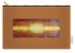 Carry-all Pouch featuring the painting Abstract Sunset by Teresa Wegrzyn