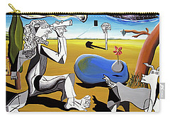 Carry-all Pouch featuring the painting Abstract Surrealism by Ryan Demaree