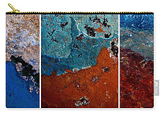 Abstract Terrain Triptych Carry-all Pouch