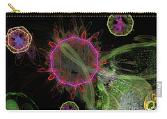 Carry-all Pouch featuring the digital art Abstract Virus Budding 1 by Russell Kightley