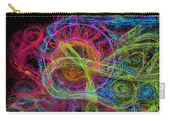Carry-all Pouch featuring the digital art Abstract Virus Budding Painterly 1 by Russell Kightley