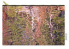Carry-all Pouch featuring the photograph Abstract Water Reflections 1 by Peggy Collins