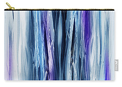 Abstract Waterfall Purple Flow Carry-all Pouch by Irina Sztukowski