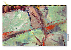 Abstract With Cadmium Red Carry-all Pouch