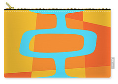 Abstract With Turquoise Pods 3 Carry-all Pouch