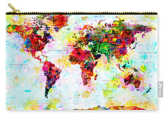 Abstract World Map Carry-all Pouch