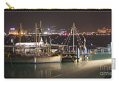 Carry-all Pouch featuring the photograph Abu Dhabi At Night by Andrea Anderegg