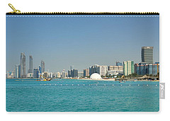 Carry-all Pouch featuring the photograph Abu Dhabi Skyline by Steven Richman