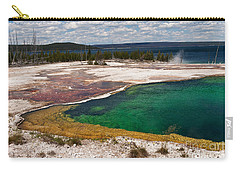 Abyss Pool And Yellowstone Lake Carry-all Pouch by Sue Smith