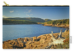 Carry-all Pouch featuring the photograph Acadia Otter Cove by Alana Ranney