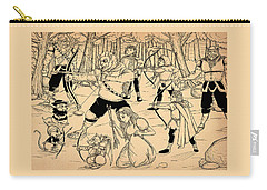 Carry-all Pouch featuring the painting Archery In Oxboar by Reynold Jay