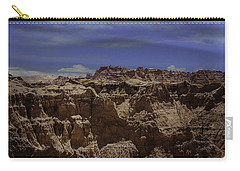 Carry-all Pouch featuring the photograph Across The Badlands by Judy Hall-Folde