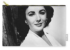 Actress Elizabeth Taylor Carry-all Pouch by Underwood Archives