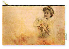 Carry-all Pouch featuring the photograph Actress In The Pink Vintage Collage by Peggy Collins