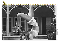 Actress Vera Zorina Exercising Carry-all Pouch by Underwood Archives