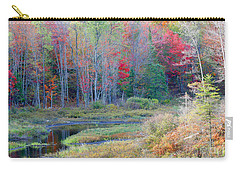 Carry-all Pouch featuring the photograph Adirondack Fall by Mariarosa Rockefeller
