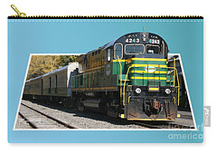 Carry-all Pouch featuring the photograph Adirondack Railroad by Mariarosa Rockefeller