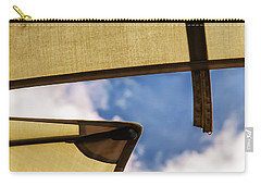 Carry-all Pouch featuring the photograph Adjacent Umbrellas In Passing Rain by Gary Slawsky