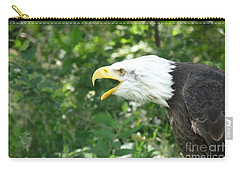 Carry-all Pouch featuring the photograph Adler Raptor Bald Eagle Bird Of Prey Bird by Paul Fearn