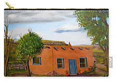 Adobe On The Prairie Carry-all Pouch by Sheri Keith