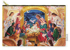 Adoring Angels Nativity Carry-all Pouch