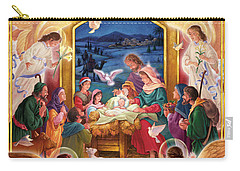 Adoring Angels Nativity Square Carry-all Pouch