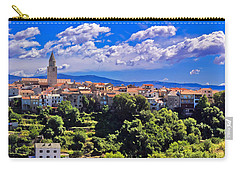 Adriatic Town Of Vrbnik Panoramic View Carry-all Pouch