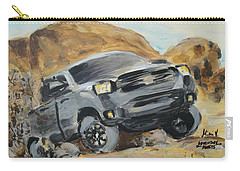 Carry-all Pouch featuring the painting Adventure Awaits by Maria Langgle