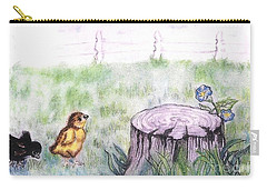Adventurous Chicks Carry-all Pouch by Francine Heykoop
