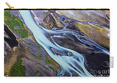 Aerial Photo Of Iceland  Carry-all Pouch by Gunnar Orn Arnason