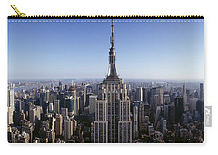 Aerial View Of A Cityscape, Empire Carry-all Pouch by Panoramic Images