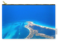 Carry-all Pouch featuring the photograph Aerial View Of Cancun by Patti Whitten