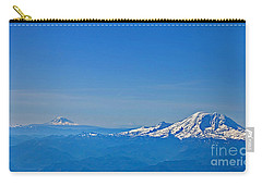 Aerial View Of Mount Rainier Volcano Art Prints Carry-all Pouch