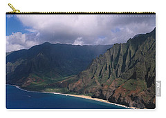 Aerial View Of The Coast, Na Pali Carry-all Pouch