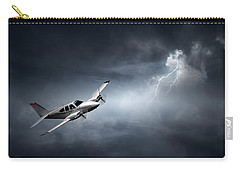 Risk - Aeroplane In Thunderstorm Carry-all Pouch