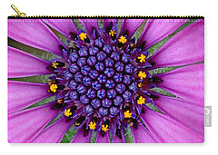 Carry-all Pouch featuring the photograph African Daisy Macro by Peggy Collins