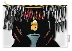 Carry-all Pouch featuring the digital art African Drummer 2 by Marvin Blaine