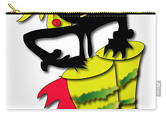 Carry-all Pouch featuring the digital art African Drummer by Marvin Blaine