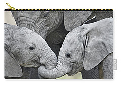 African Elephant Calves Loxodonta Carry-all Pouch