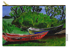 African Fishing Boats Carry-all Pouch