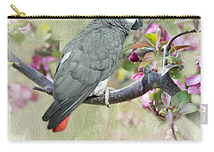 African Gray Among The Blossoms Carry-all Pouch
