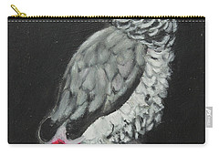 Carry-all Pouch featuring the painting African Grey by Jeanne Fischer