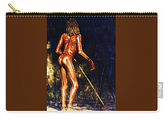 Carry-all Pouch featuring the painting African Lady by Hartmut Jager